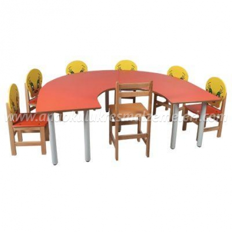 Ana sınıfı Çalışma Masası ( U şeklinde)
