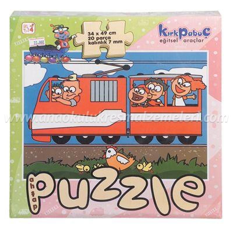 Taşıtlar Puzzle (Tren)