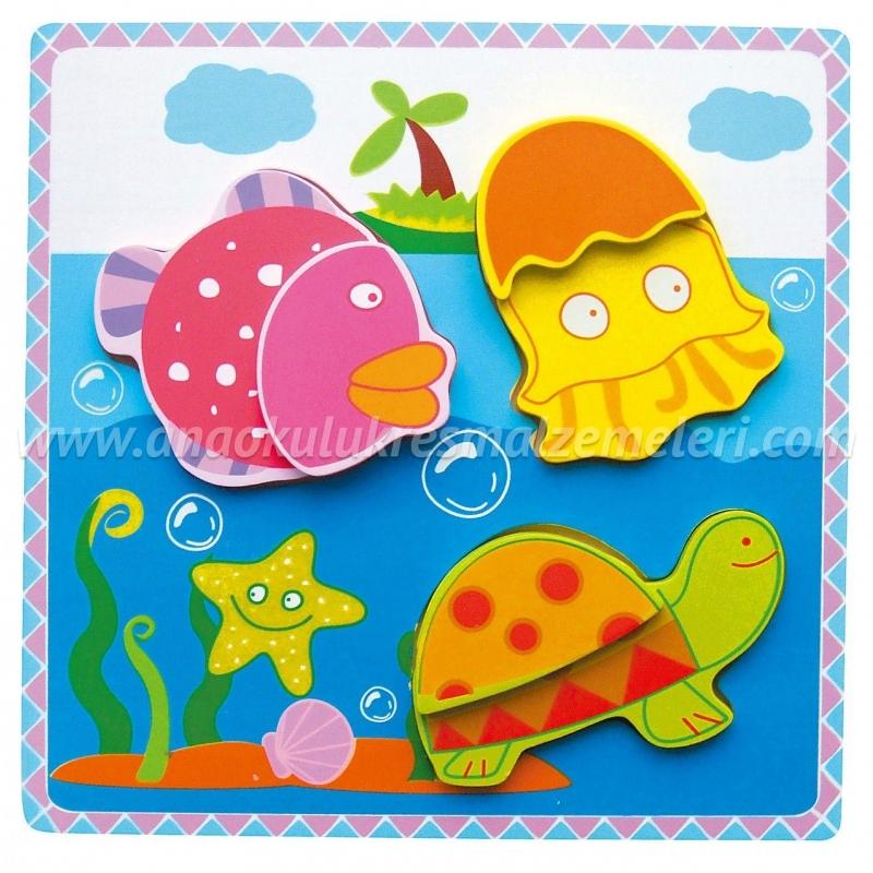3d Deniz Hayvanları Puzzle