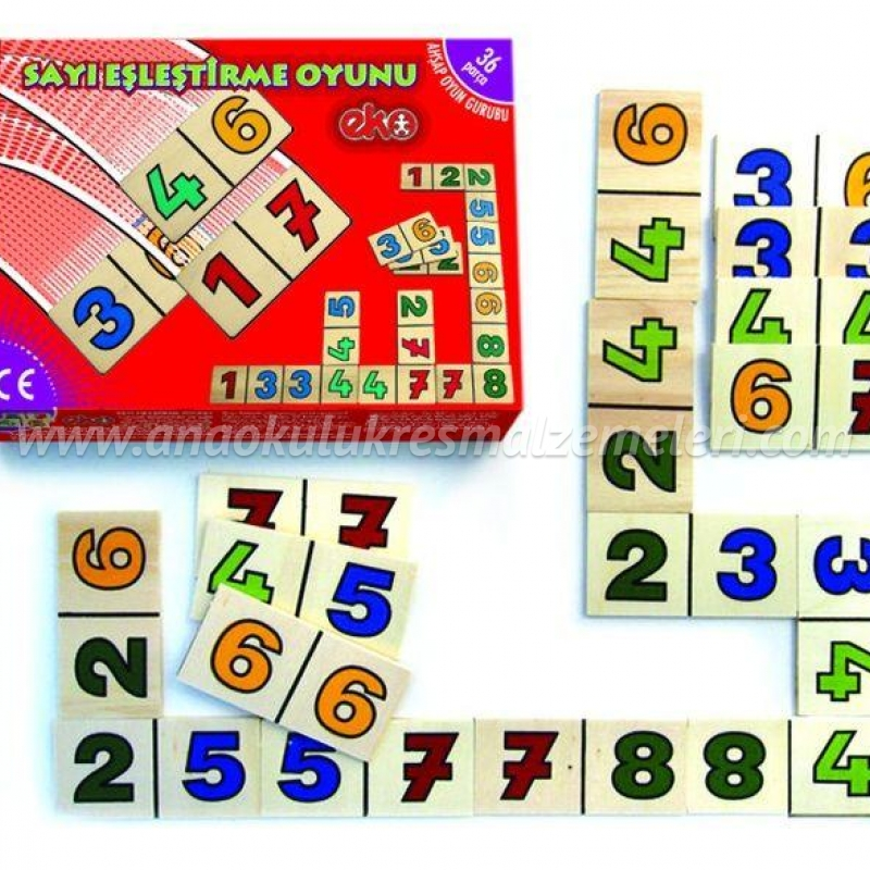 Sayıları Eşleştirme Oyunu Domino