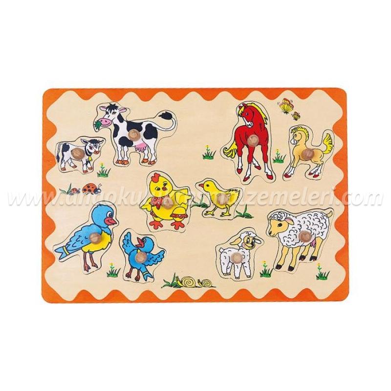 Çiftlik Hayvanları ve Yavruları Puzzle