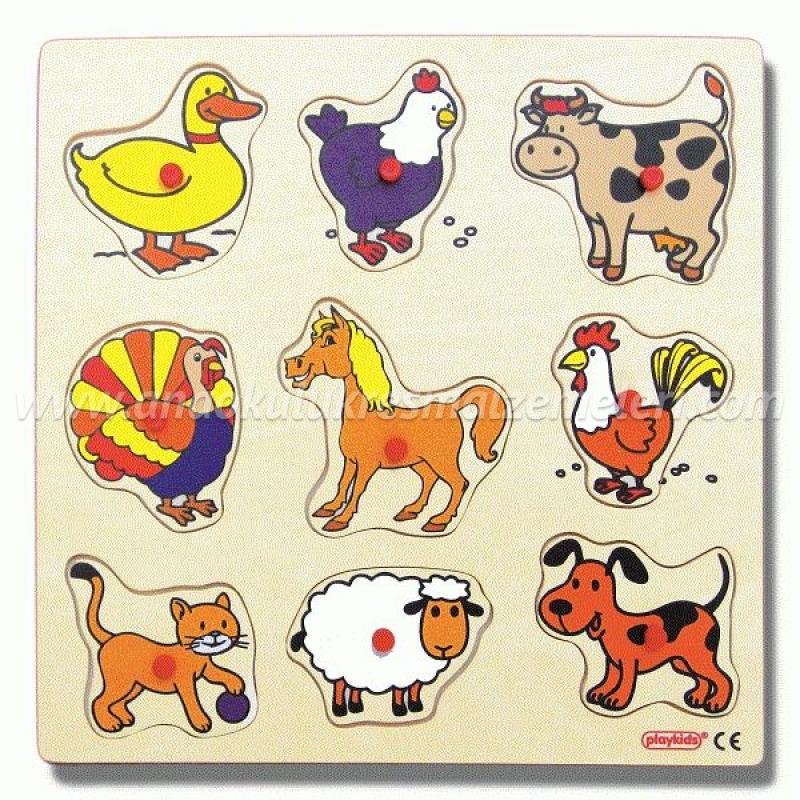 Evcil Hayvanlar Puzzle (30x30 cm)