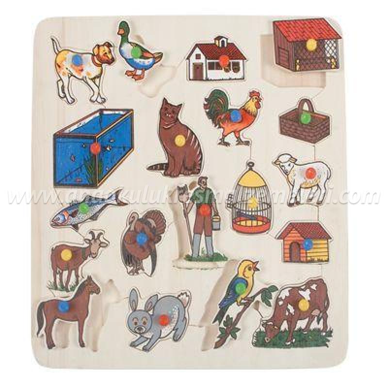 Hayvanlar ve Barınakları Puzzle