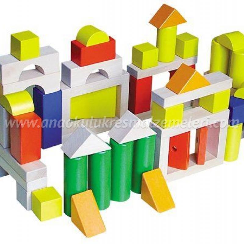 Ahşap Blok (100 Parça)
