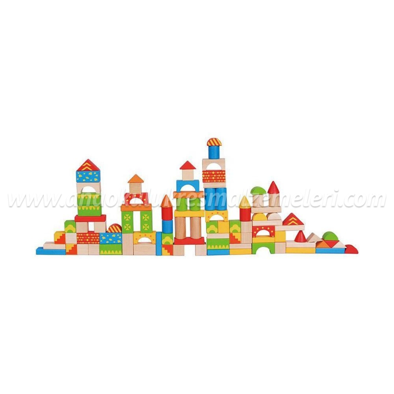 Ahşap Bloklar (100 Parça)