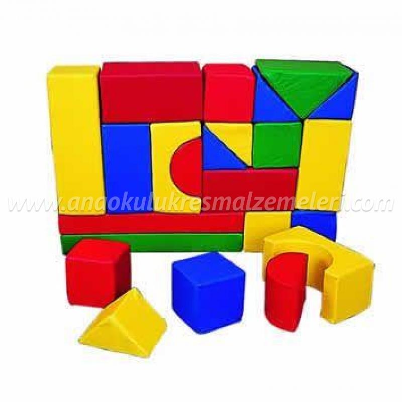 Anaokulu 21 parça sünger blok takımı