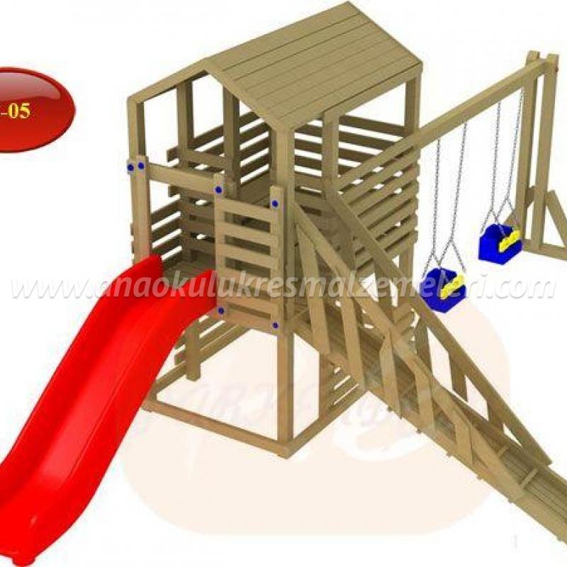 ahşap oyun parkı (kuleli)