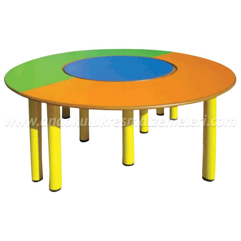 Yuvarlak Masa Takımı 3'lü (Çap 180 cm)