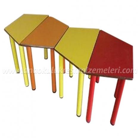 Anaokulu Masası (4 Parça Trapez)